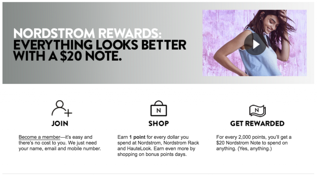 Nordstrom's Thriving Rewards Program