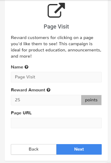 page visit campaign design screen swell